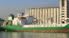 Reefer Ship Stock Footage