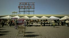 Seattle Public Market Stock Footage