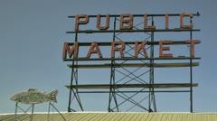 Seattle Public Market Stock Footage