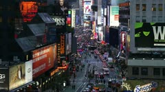 Broadway Looking Towards Times Square, New York Stock Footage