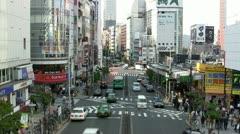 Shinjuku, Tokyo, Japan (timelapse) Stock Footage