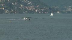 Seaplane takeoff 14 e Stock Footage