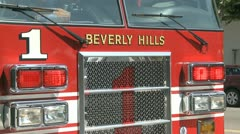 Stock Video Footage of L.A. Fire Truck