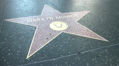 Walk of Fame Marilyn Monroe - stock footage