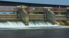 Flood control dam spillway - time lapse Stock Footage