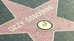 Walk of Fame Ozzy Osbourne Stock Footage