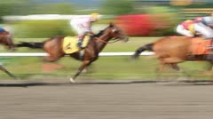 Vancouver Hastings Park Horse Track Slow Motion Stock Footage