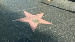 Walk of Fame Harrison Ford Stock Footage