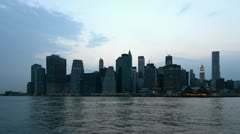 Downtown Manhattan sunset timelapse view Stock Footage