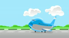 Airplane take off - stock footage