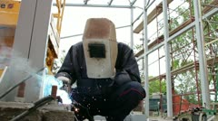 Construction Welder Stock Footage
