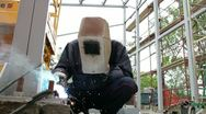 Stock Video Footage of Construction Welder
