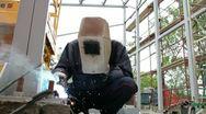Construction Welder Stock Footage