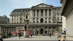 Bank of England London England - stock footage