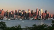 Stock Video Footage of Midtown Manhattan Across the Hudson River, New York