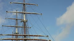 Tall ships mast timelapse Stock Footage