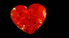 Loopable Rotating or ticking diamond heart. Alpha is included Stock Footage