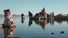 Mono Lake first light Stock Footage