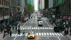 42nd Street in Mid Town Manhattan, New York Stock Footage