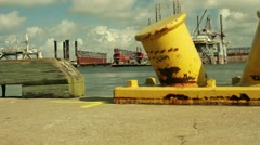 Oil platform dolly movement Stock Footage