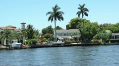 Expensive waterfront homes in Florida - stock footage