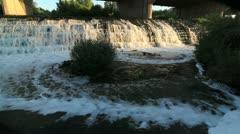 Bridge Waterfall Stock Footage