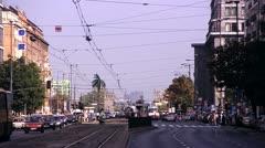Warszawa, palma na rondzie charles de gaulle'a Stock Footage