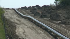 pipeline construction, zoom from line, #2 - stock footage