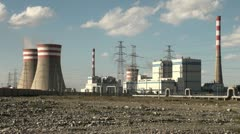 China energy, coal fired power plant, reactor, pollution, generate electricity - stock footage