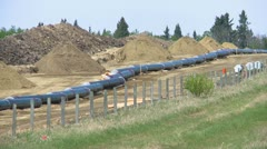pipeline construction, zoom from line, #1 - stock footage