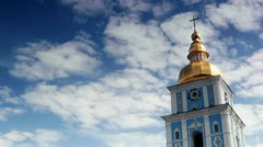 St. Michael's Golden-Domed Monastery Stock Footage