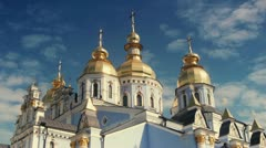 Temple of Mikhailovsky Golden-roofed Monastery Stock Footage