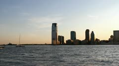Jersey City sunset view timelapse Stock Footage