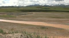 Beautiful Tibetan scenery in Qinghai province Stock Footage