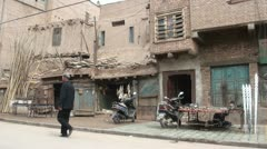 Streetlife in the old town of Kashgar Stock Footage