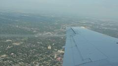 Airplane gaining altitude Stock Footage