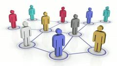 Multicultural Networking Stock Footage