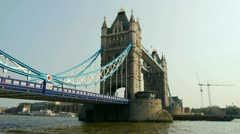 tower bridge time lapse - stock footage