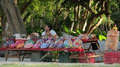 Chichen Itza mayan souvenirs Stock Footage