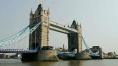 tower bridge time lapse on sunny day - stock footage