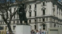 Winston churchill statue sculpture Stock Footage