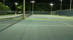 Jm1202-Night Tennis Net2 Stock Footage
