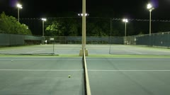 Jm1201-Night Tennis Net Stock Footage