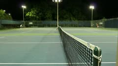 Jm1209-Pro Night Tennis Stock Footage