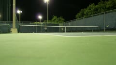 Jm1211-Night Tennis Court Stock Footage