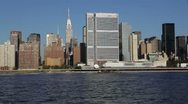 Stock Video Footage of Manhattan seen from the East River, New York