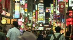 Shinjuku Street, Tokyo, Japan Stock Footage