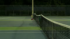 Jm1210-Pro Night Tennis Stock Footage