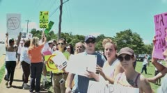 Gay protest walk though 5 27 12 - stock footage