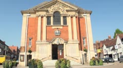 Henley on Thames Town Hall Building - stock footage